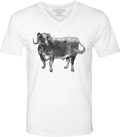 Austin Ink Apparel Wild Yak Unisex Soft Jersey Short Sleeve V-Neck T-Shirt