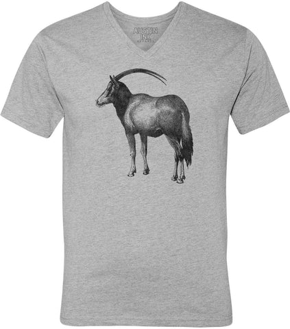 Austin Ink Apparel Vintage Antelope Unisex Soft Jersey Short Sleeve V-Neck T-Shirt