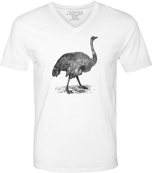 Austin Ink Apparel Australian Emu Unisex Soft Jersey Short Sleeve V-Neck T-Shirt