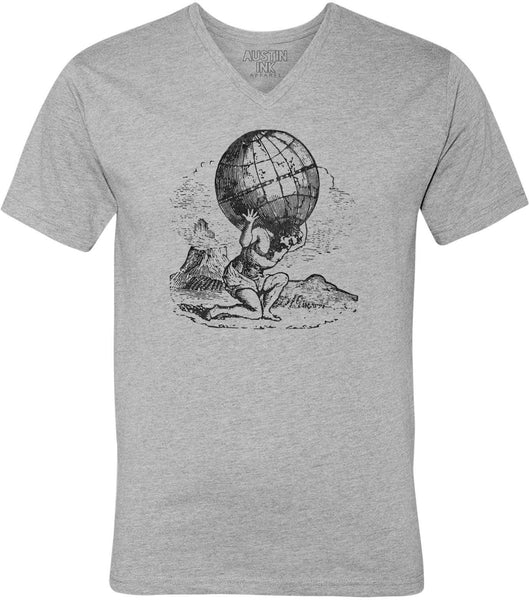Austin Ink Apparel Titan Atlas Unisex Soft Jersey Short Sleeve V-Neck T-Shirt