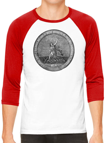 Austin Ink Apparel 1876 Centennial Exposition White Unisex 3/4 Sleeve Baseball Tee