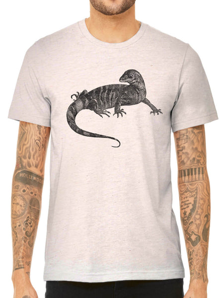 Austin Ink Apparel African Monitor Lizard Quality Triblend Short Sleeve Mens T-Shirt