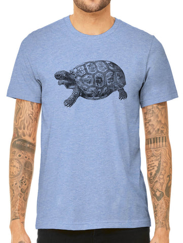 Austin Ink Apparel Old Tortoise Illustration Quality Triblend Short Sleeve Mens T-Shirt