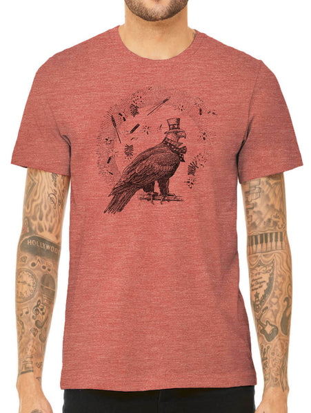 Austin Ink Apparel 4th of July Eagle Quality Triblend Short Sleeve Mens T-Shirt