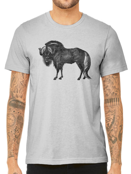 Austin Ink Apparel African Wildebeest Quality Triblend Short Sleeve Mens T-Shirt