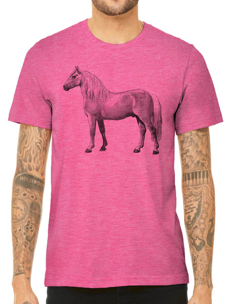 Austin Ink Apparel Albino Horse Quality Triblend Short Sleeve Mens T-Shirt