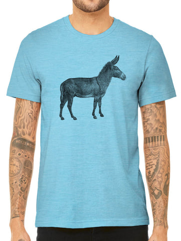 Austin Ink Apparel Old Donkey Quality Triblend Short Sleeve Mens T-Shirt