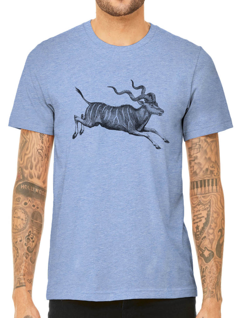 Austin Ink Apparel African Antelope Quality Triblend Short Sleeve Mens T-Shirt