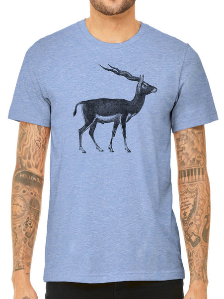 Austin Ink Apparel Antelope Illustration Quality Triblend Short Sleeve Mens T-Shirt