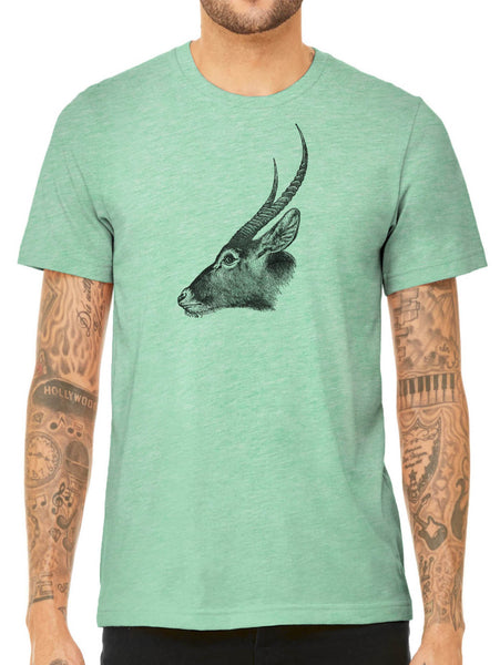 Austin Ink Apparel Antelope Profile Quality Triblend Short Sleeve Mens T-Shirt