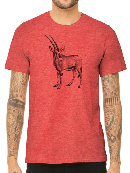 Austin Ink Apparel African Oryx Quality Triblend Short Sleeve Mens T-Shirt
