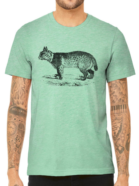 Austin Ink Apparel American Bobcat Quality Triblend Short Sleeve Mens T-Shirt