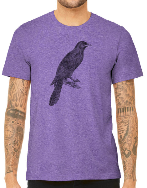 Austin Ink Apparel Asian Koel Bird Quality Triblend Short Sleeve Unisex Mens T-Shirt
