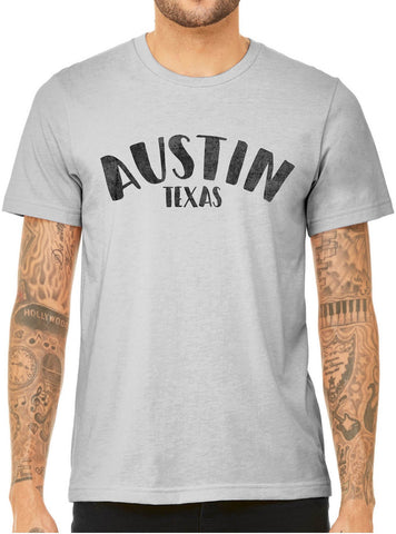Austin Ink Apparel City of Austin Texas Triblend Short Sleeve Unisex Mens T-Shirt