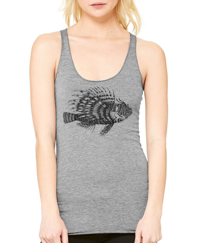 ad5187a3e19fb Austin Ink Apparel Spiney Lionfish Ladies Triblend Racerback Tank