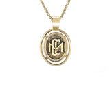 10K Gold Claremont McKenna College custom design class pendant with 14k gold chain