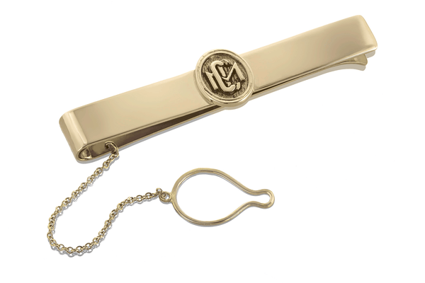 10K Gold Claremont McKenna College custom design tie Clip