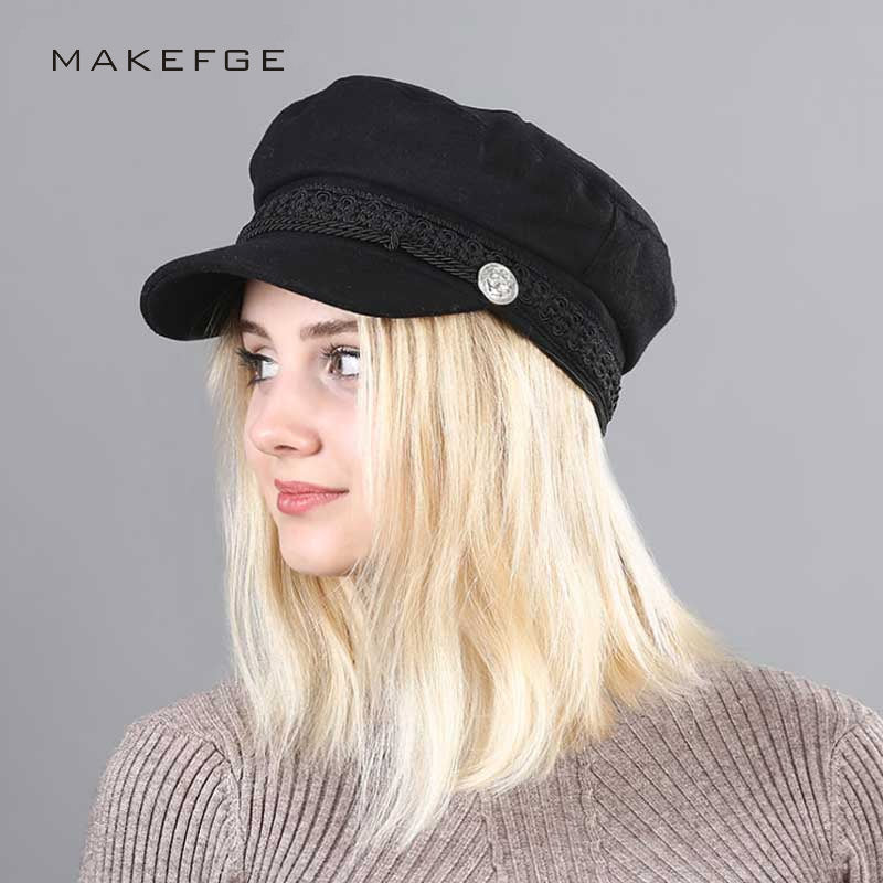 Spring 2018 Vintage Hats New Fashion Military