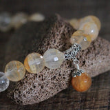 Handmade Natural Citrine Beads Necklace