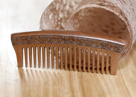 Natural Peachwood Comb