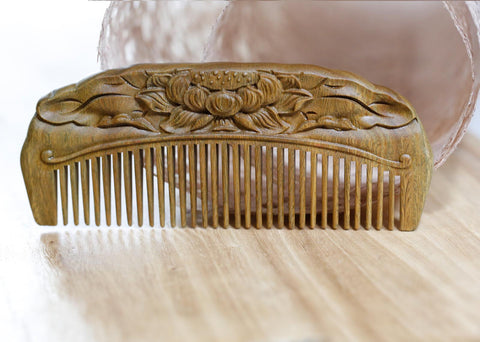 Natural Green Sandalwood Comb