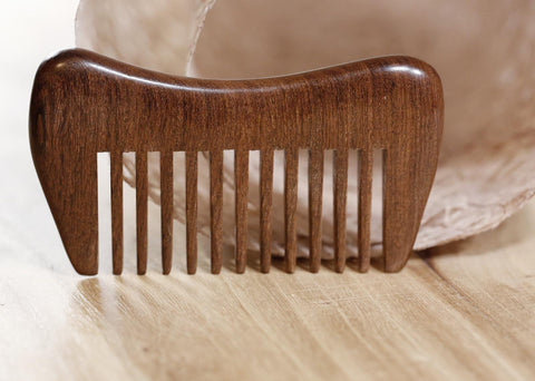 Natural Golden Sandalwood Comb