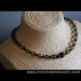 Handmade Faceted Natural Gemstone Smoky Quartz Beads Necklace