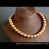 shell pearl beads necklace