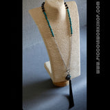 Handmade Tassel Necklace, Natural Gemstone Necklace