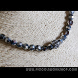 Electroplate Half Plated Glass Beads Necklace
