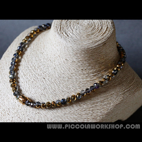 Electroplate Half Plated Beads Necklace
