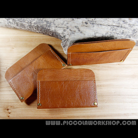 Business Card/Card/Money Holder,Hand Stitched Genuine Leather Cash/Card Holder