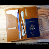 Hand Stitched Ticket and Passport travel wallet