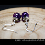 Natural Amethyst Bead Earrings