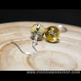 Natural Citrine Bead Earrings
