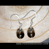 Natural Smoky Quartz Bead Earrings