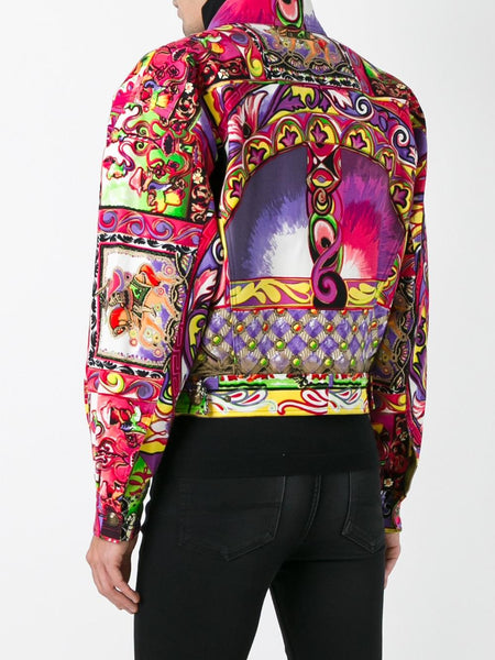 Gianni Versace Mens Printed Jacket