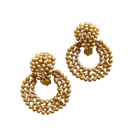 Gold Large Clip Earrings