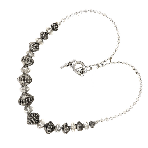 Silver & Crystal Necklace
