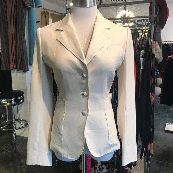 2000's Yves Saint Laurent Cream Jacket