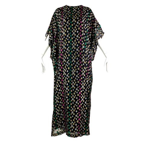 80's David Brown California Metallic Caftan