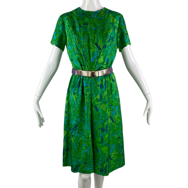 60's John Norman Silk Pattern Dress