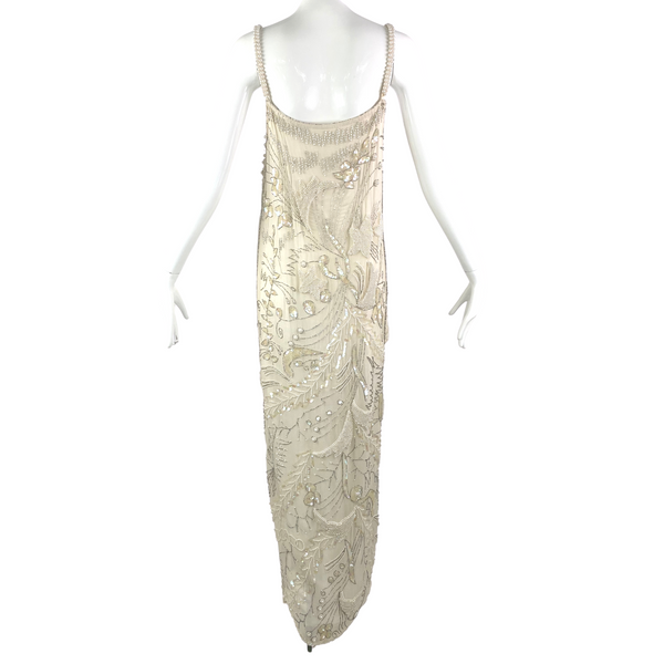 70's India Tri-Layer Sequin Silk Gown