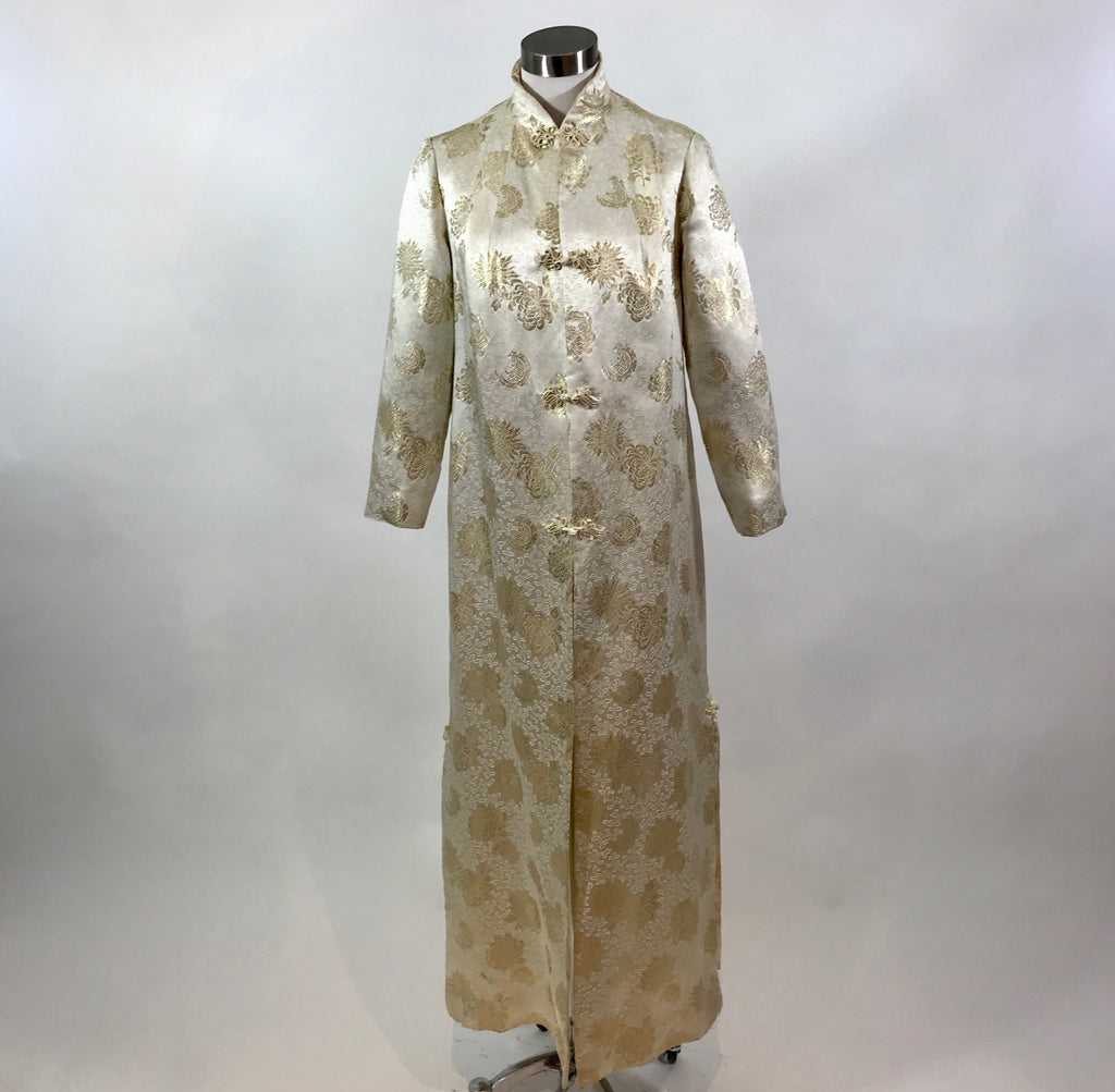 Retro White + Gold Oriental Coat
