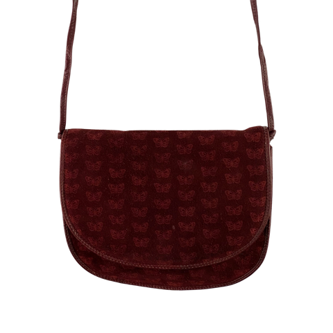 80's Bottega Veneta Suede Butterfly Bag