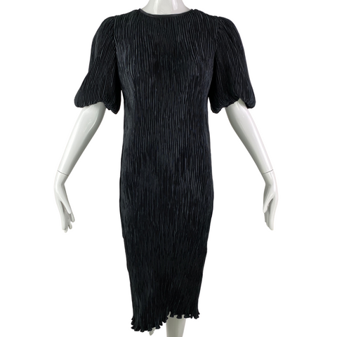 80's Nuit Silk Crinkle Dress