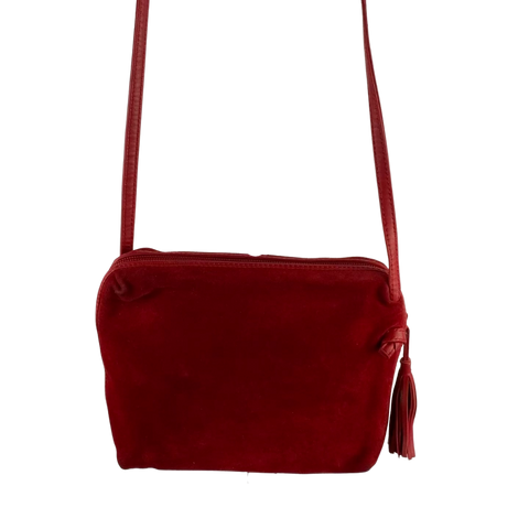 80's Bottega Veneta Red Suede Bag