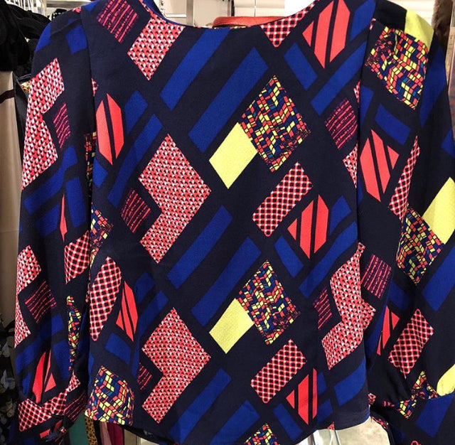 Retro Psychedelic Blouse