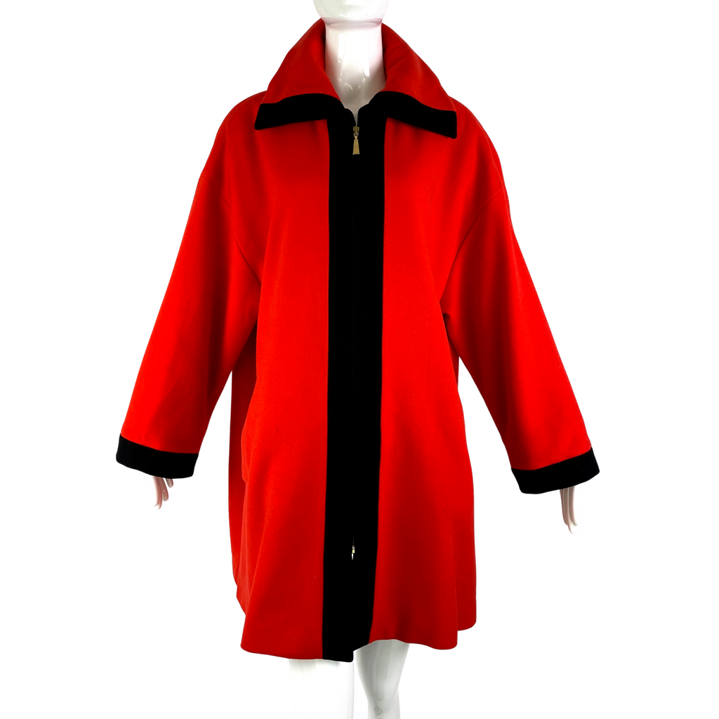 Laurel Red Wool Coat