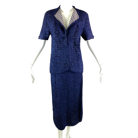 An Original Ann Fleischer Knit Skirt Set